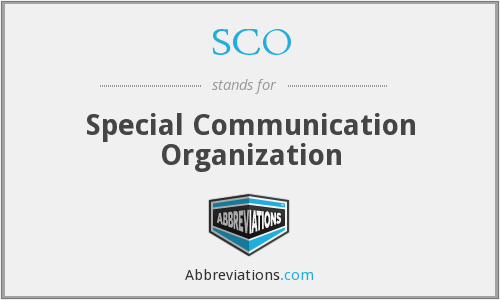 SCO - Special Communication Organization