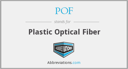 POF - Plastic Optical Fiber