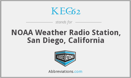KEC-62 - NOAA Weather Radio Station, San Diego, California
