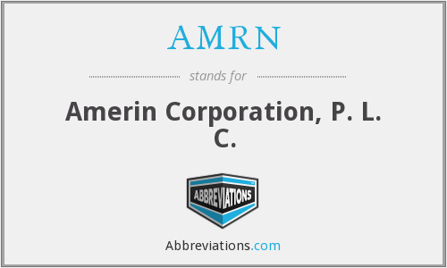 What does AMRN stand for?