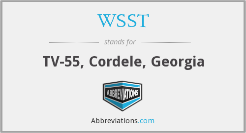 WSST - TV-55, Cordele, Georgia