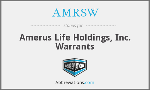 What does AMRSW stand for?