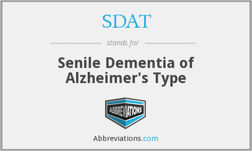 SDAT - Senile Dementia of Alzheimer's Type