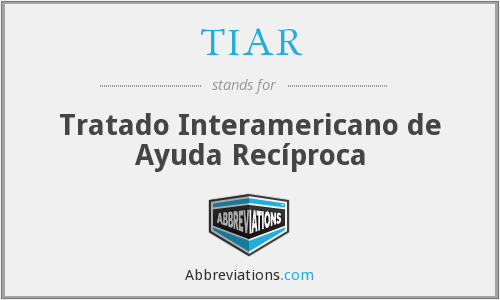 What does TIAR stand for?