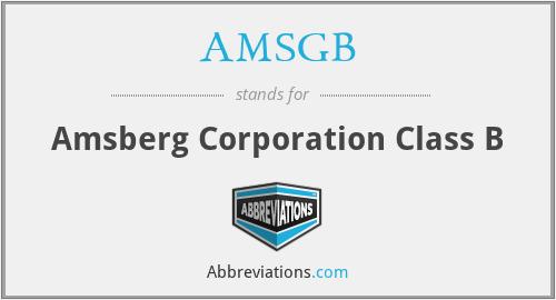 AMSGB - Amsberg Corporation Class B