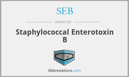 SEB - Staphylococcal Enterotoxin B