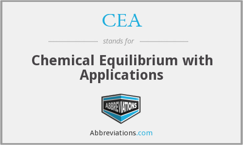 CEA - Chemical Equilibrium with Applications