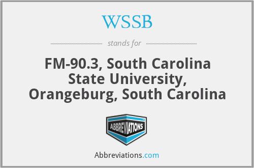 WSSB - FM-90.3, South Carolina State University, Orangeburg, South Carolina