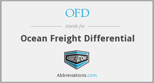 OFD - Ocean Freight Differential