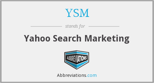 YSM - Yahoo Search Marketing