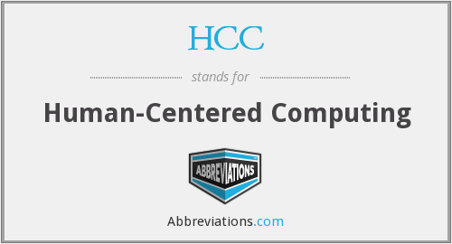 HCC - Human-Centered Computing