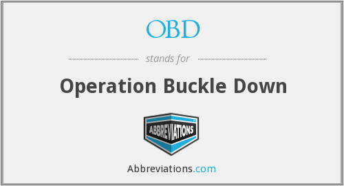 OBD - Operation Buckle Down