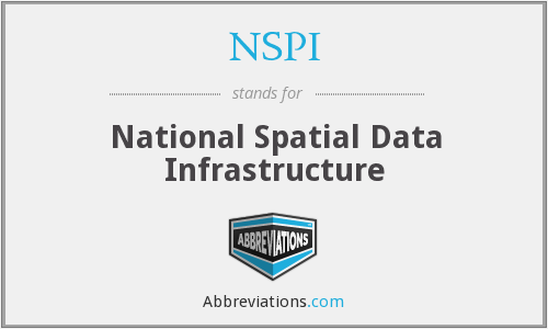 NSPI - National Spatial Data Infrastructure