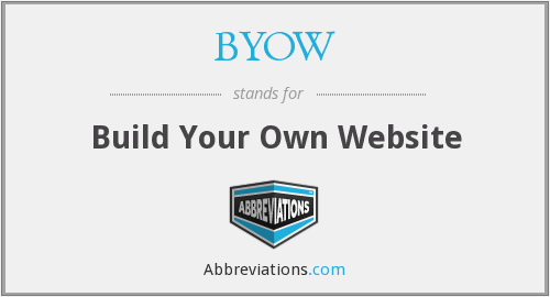 BYOW - Build Your Own Website