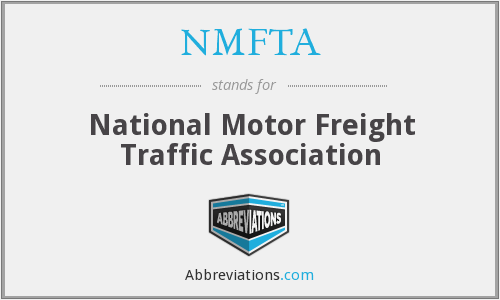 Nmfta national motor freight traffic association for National motor freight traffic association