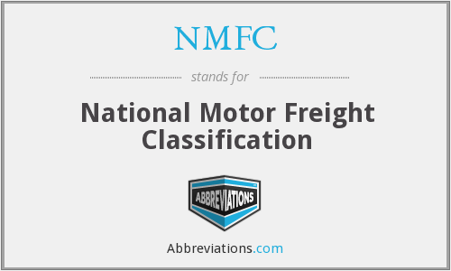 Nmfc National Motor Freight Classification