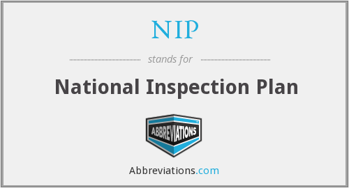 NIP - National Inspection Plan