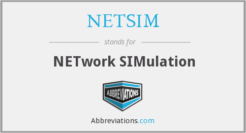 What does NETSIM stand for?