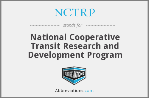 What does NCTRP stand for?
