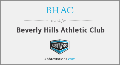 BHAC - Beverly Hills Athletic Club