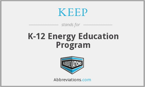 KEEP - K-12 Energy Education Program