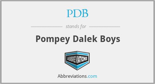 PDB - Pompey Dalek Boys