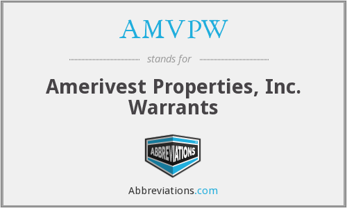 What does AMVPW stand for?