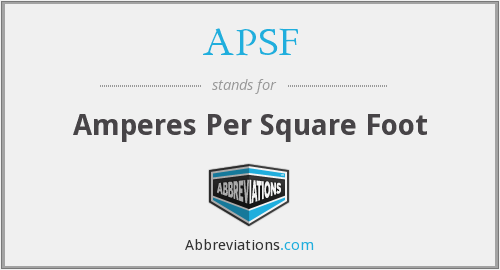 APSF - Amperes Per Square Foot