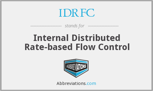 IDRFC - Internal Distributed Rate-based Flow Control