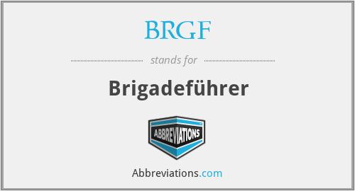 BRGF - Brigadeführer