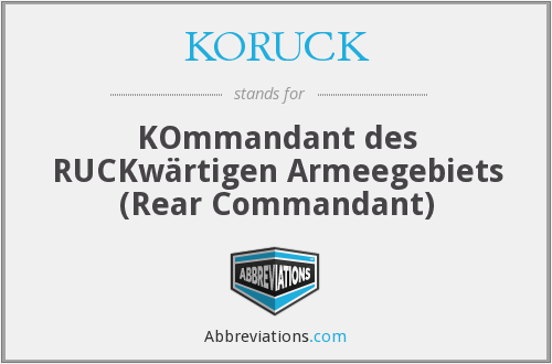 What does KORUCK stand for?