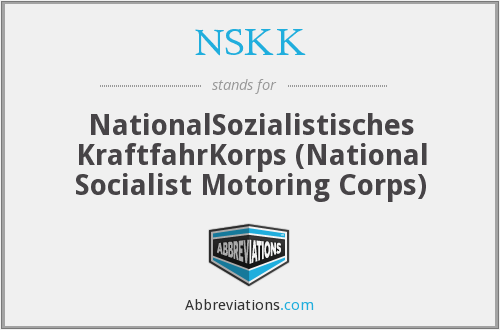 NSKK - NationalSozialistisches KraftfahrKorps (National Socialist Motoring Corps)