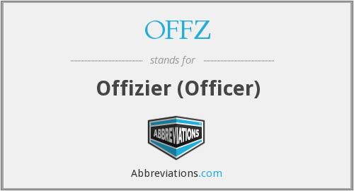 OFFZ - Offizier (Officer)
