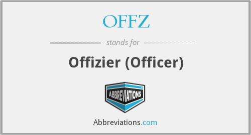 OFFZ - Offizier (Officer)