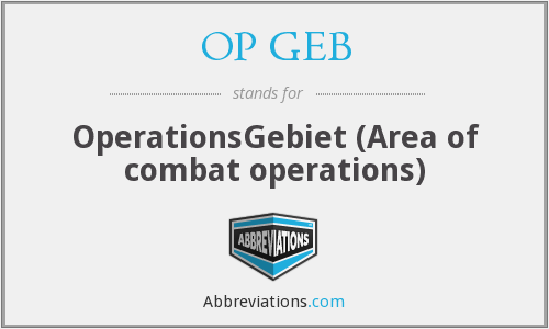 What does OP GEB stand for?