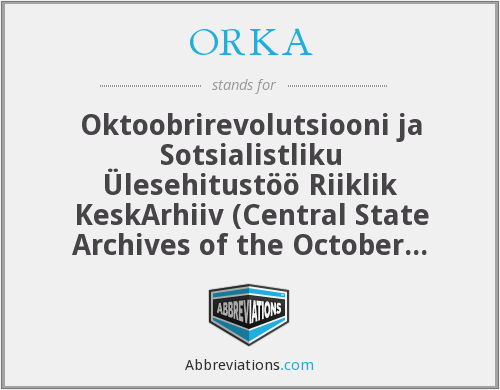 What does ORKA stand for?