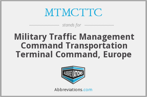 MTMCTTC - Military Traffic Management Command Transportation Terminal Command, Europe