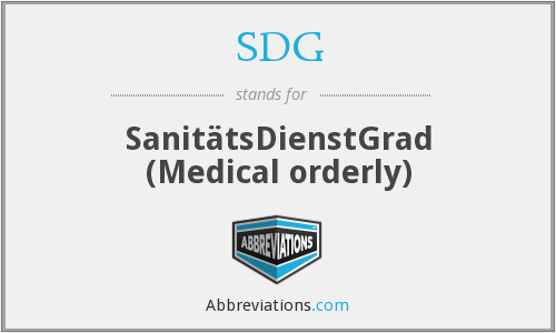 SDG - SanitätsDienstGrad (Medical orderly)