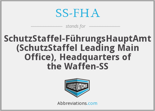 What does SS-FHA stand for?