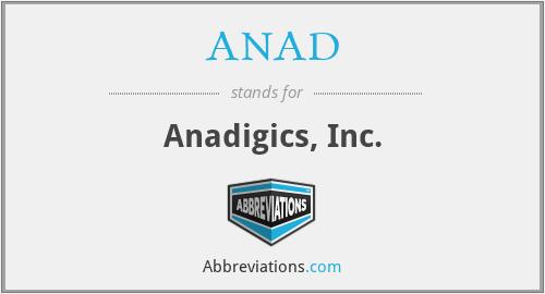 ANAD - Anadigics, Inc.
