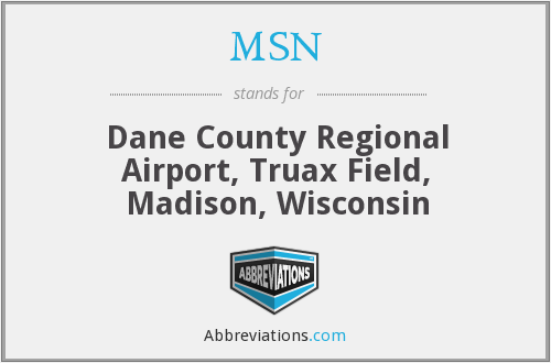 MSN - Dane County Regional Airport, Truax Field, Madison, Wisconsin