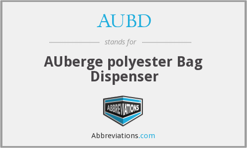 AUBD - AUberge polyester Bag Dispenser