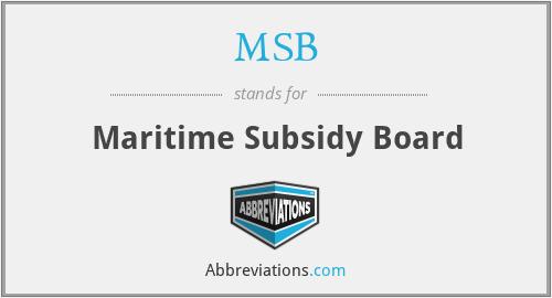 MSB - Maritime Subsidy Board
