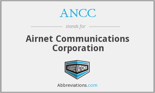ANCC - Airnet Communications Corporation