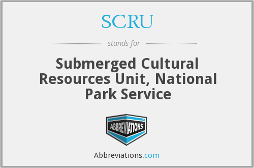 SCRU - Submerged Cultural Resources Unit, National Park Service