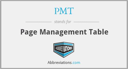 PMT - Page Management Table