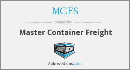 MCFS - Master Container Freight