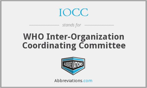 IOCC - WHO Inter-Organization Coordinating Committee