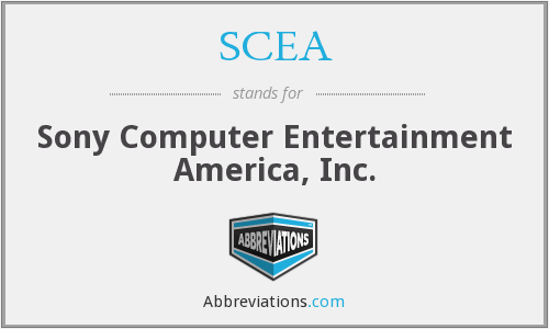 SCEA - Sony Computer Entertainment America, Inc.