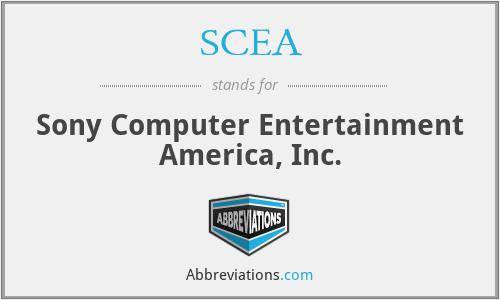 SCEA - Sony Computer Entertainment America, Inc.